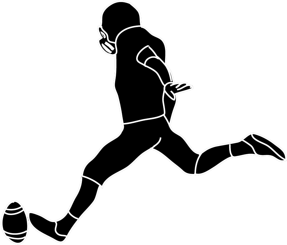collection of kicker. Football clipart football player