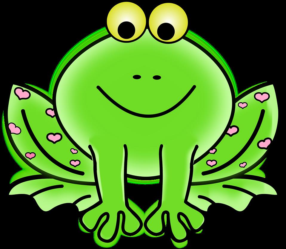 Free stock photo illustration. Clipart borders frog