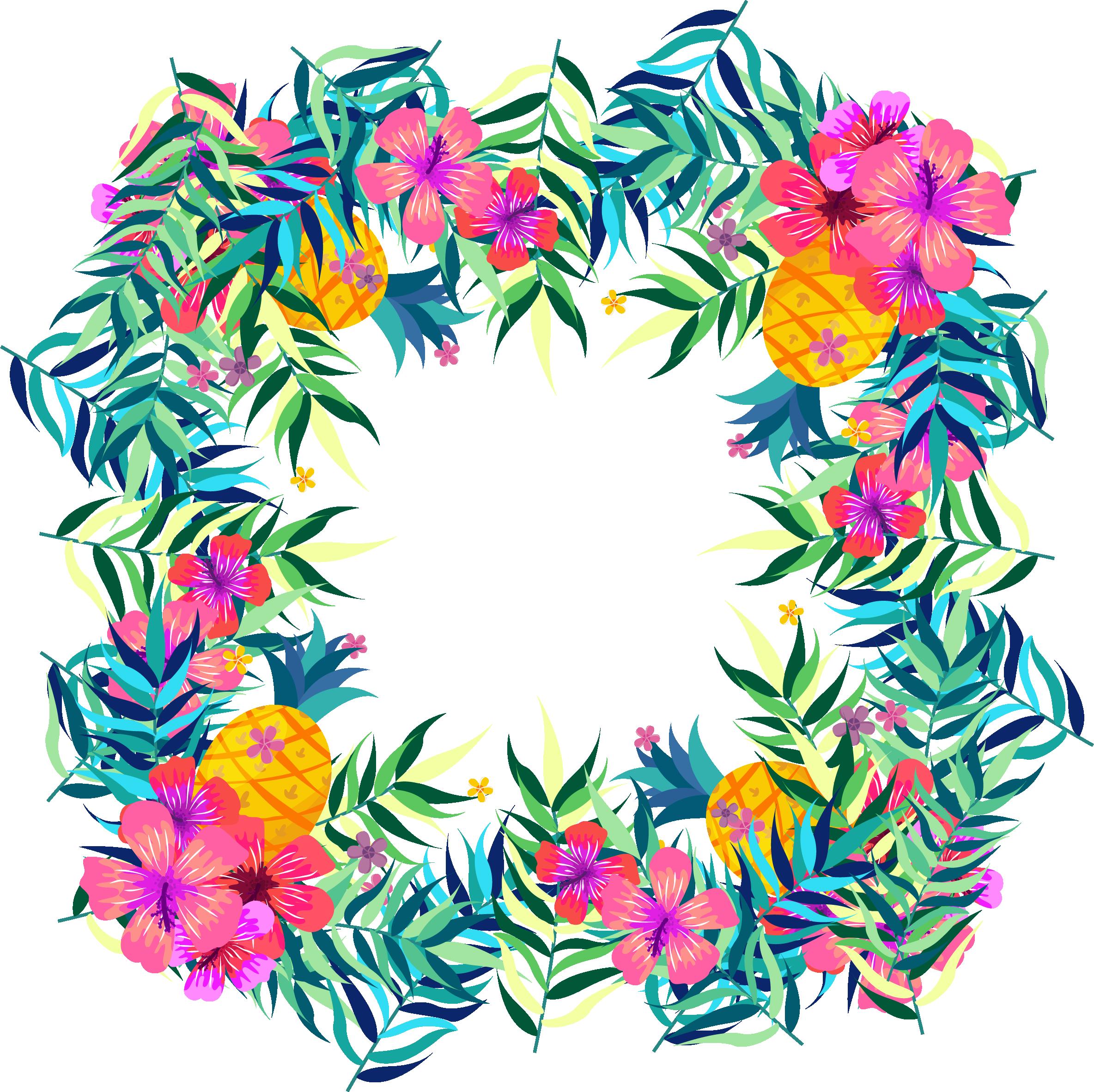 Flower tropics fruit clip. Watermelon clipart tropical