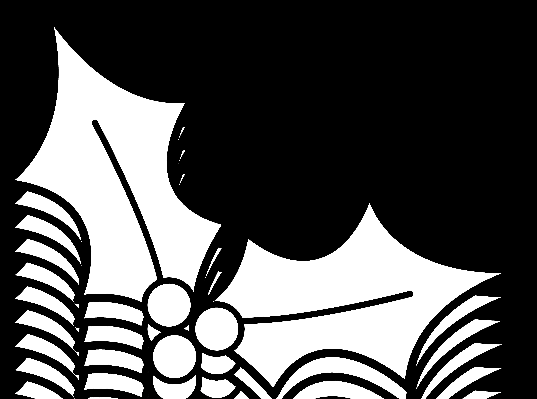 Clip art borders panda. Clipart christmas holly