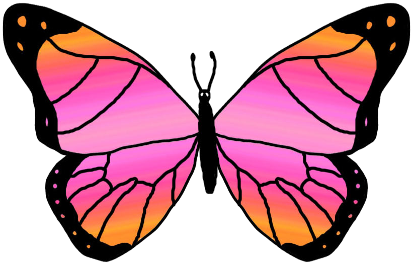 Clip art free borders. Clipart butterfly printable