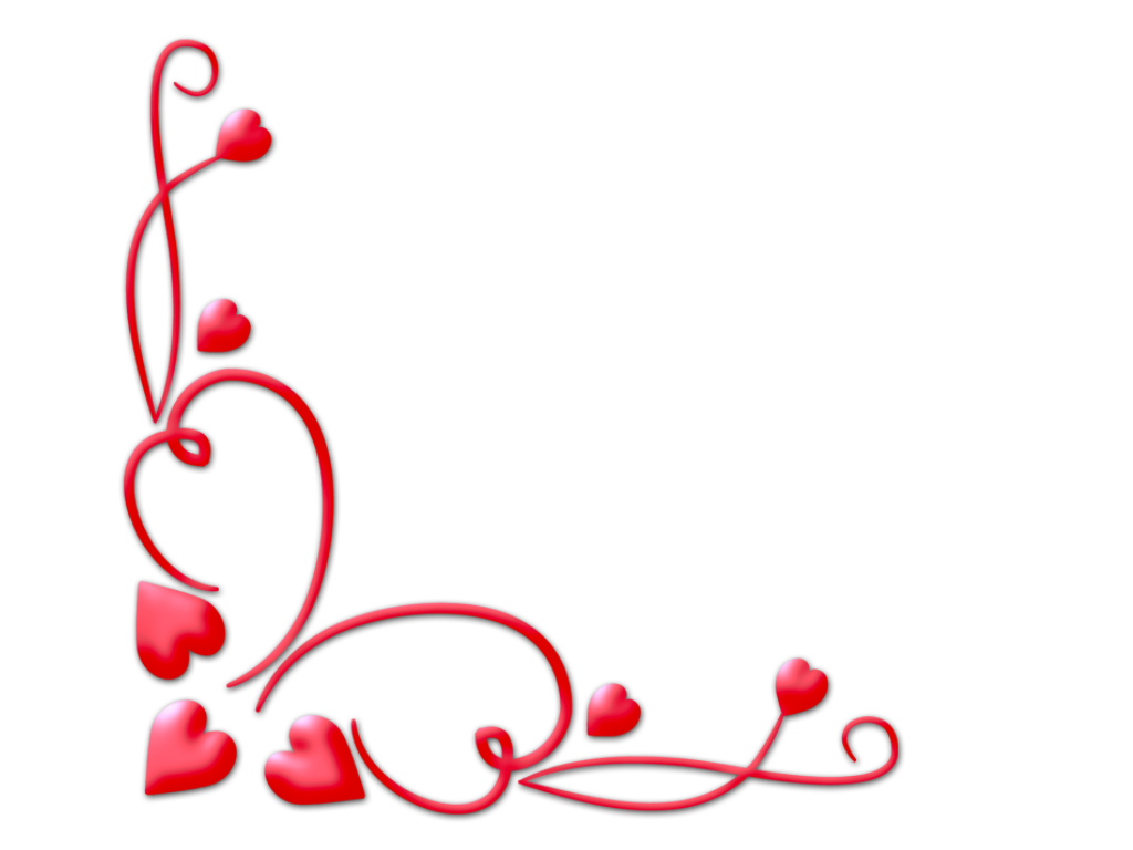 Love borders and frames. Valentine border png