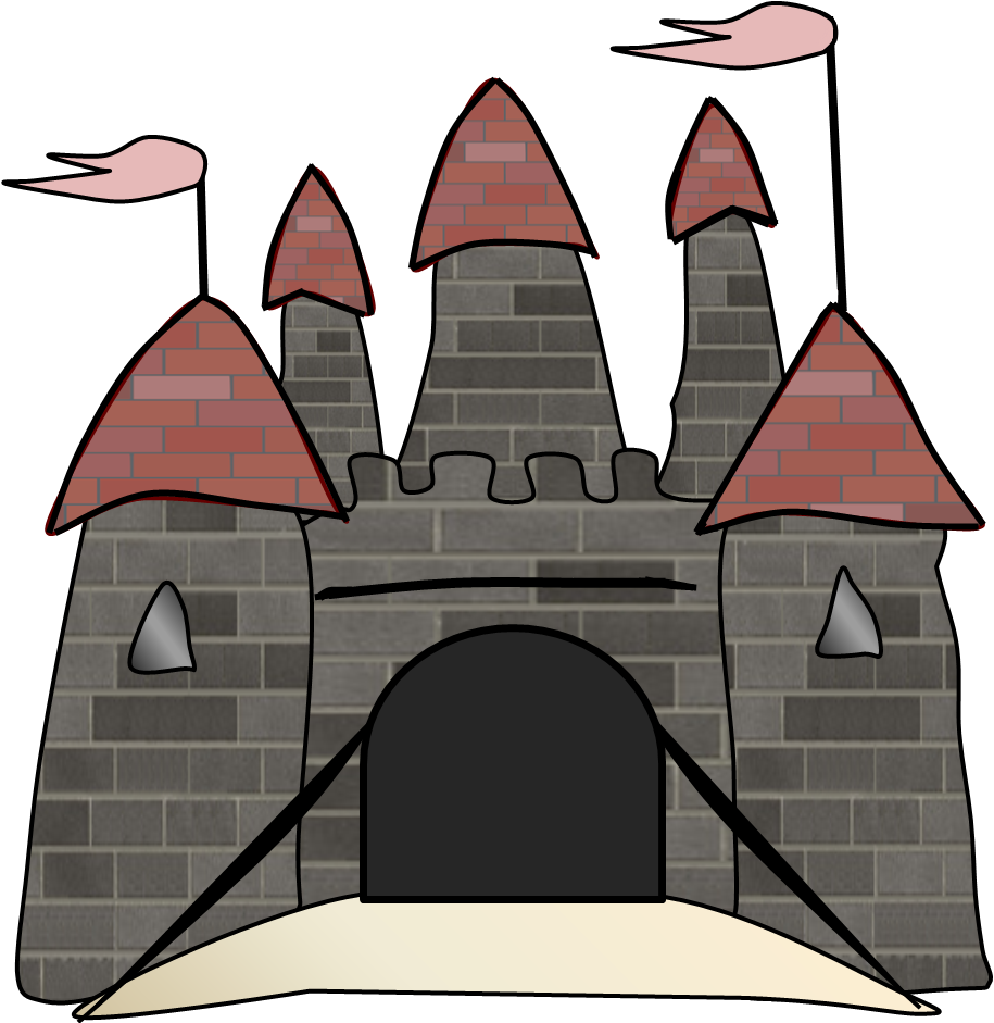 Medieval clip art borders. Palace clipart castle wall