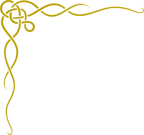 Garland clipart yellow. Gold page borders border