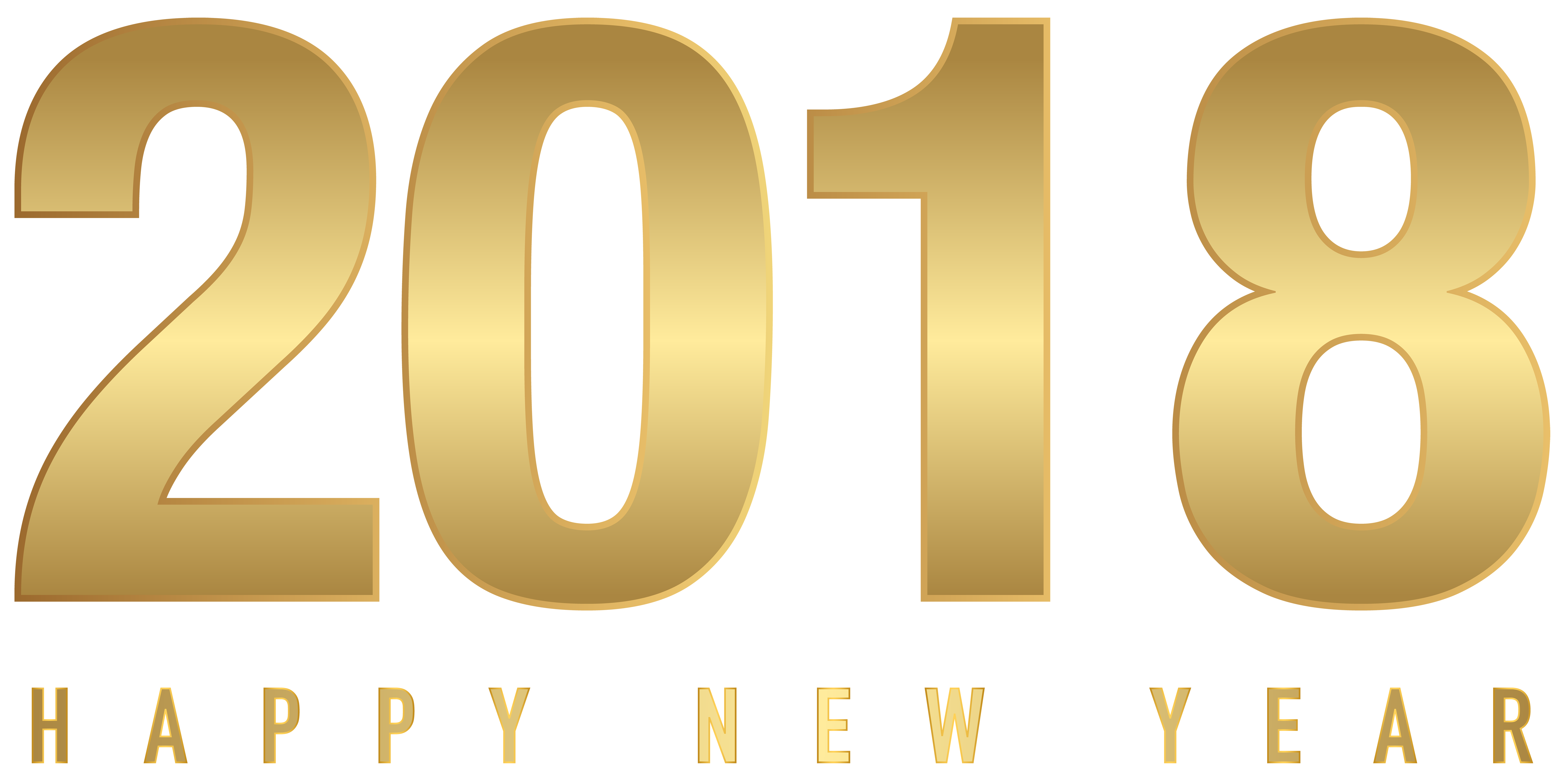 Clipart free new year.  gold transparent png
