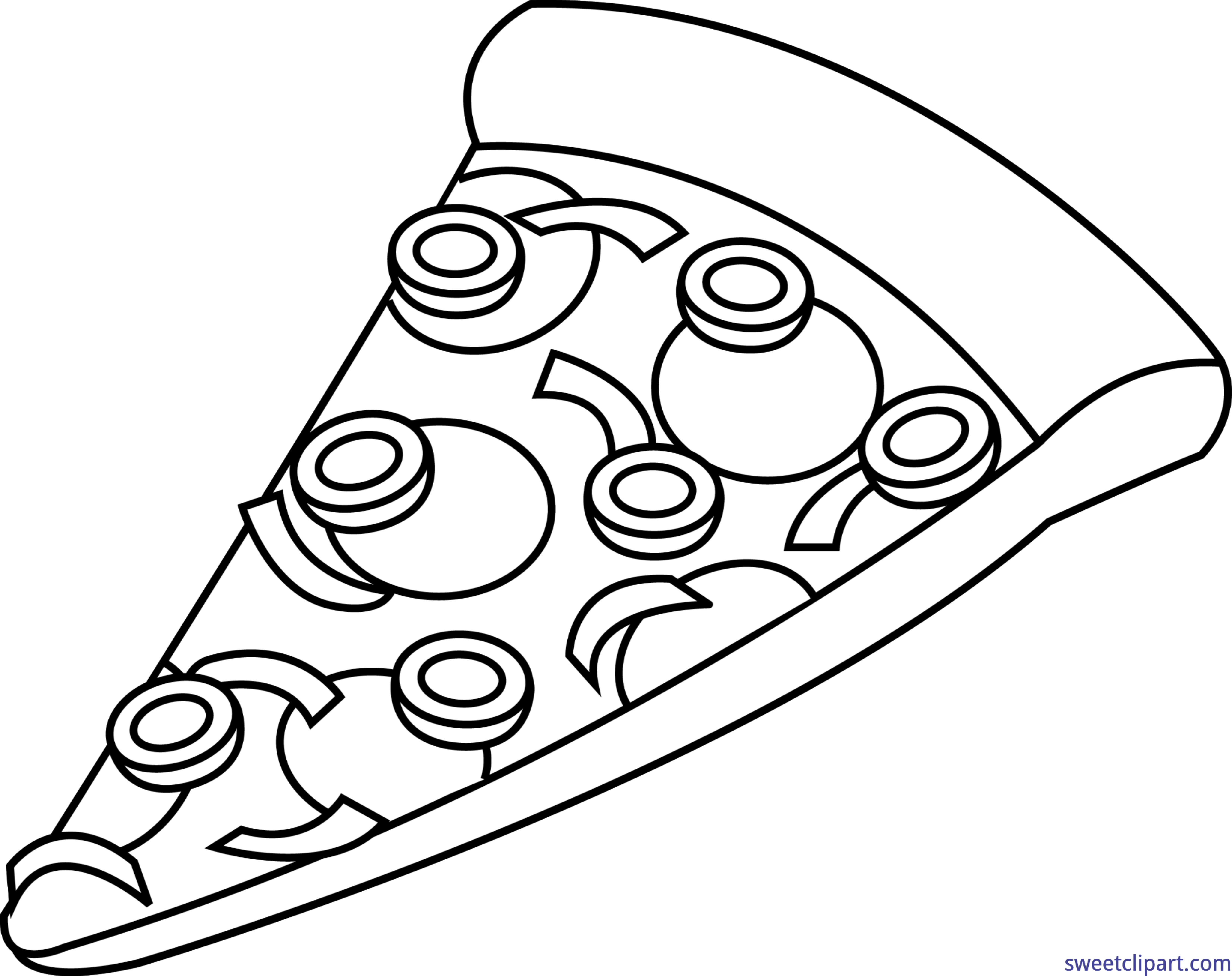 People clipart pizza. Slice combo lineart clip