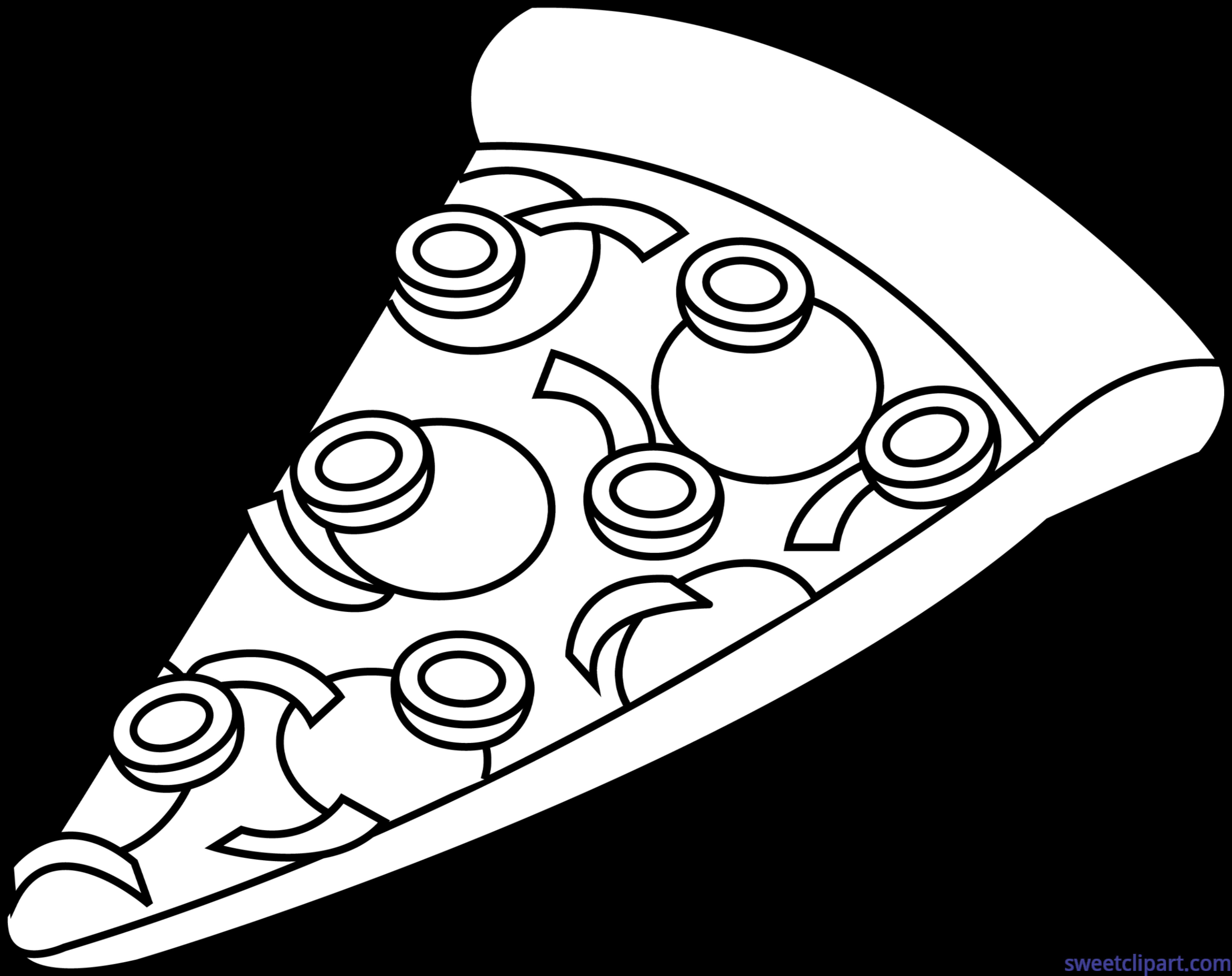 Combo lineart clip art. Pizza clipart pizza slice