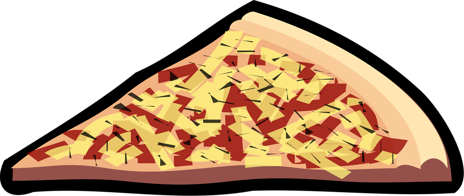 Free stock photo illustration. People clipart pizza