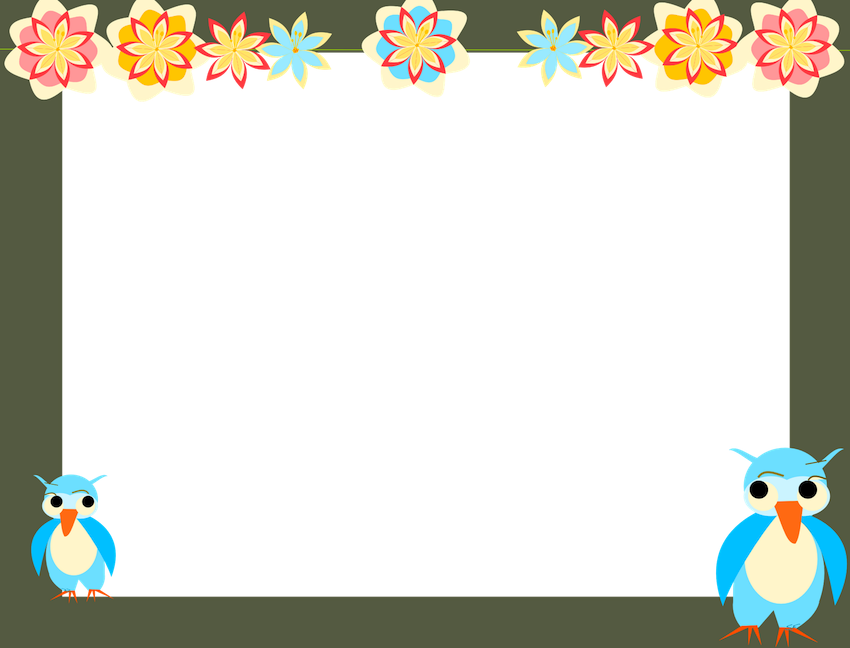 Kindergarten clipart frame. Kids picture top cute