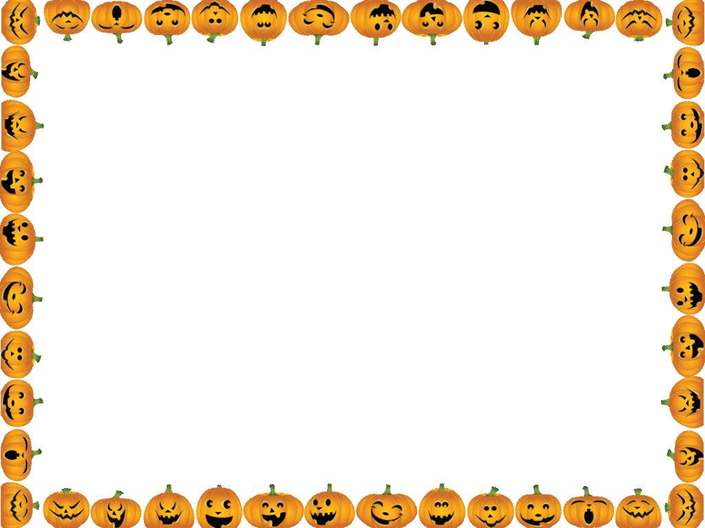 Pumpkin border png.  collection of halloween