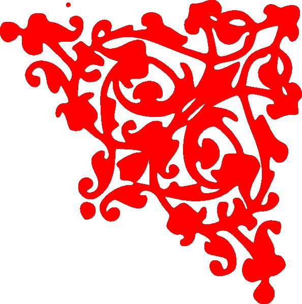 Corner border clip art. Clipart borders red