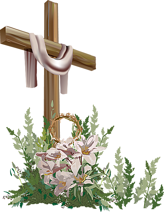 Easter group holy week. Clipart borders religious