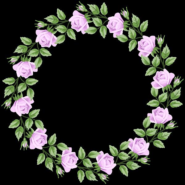 Violet border frame transparent. Clipart rose borders