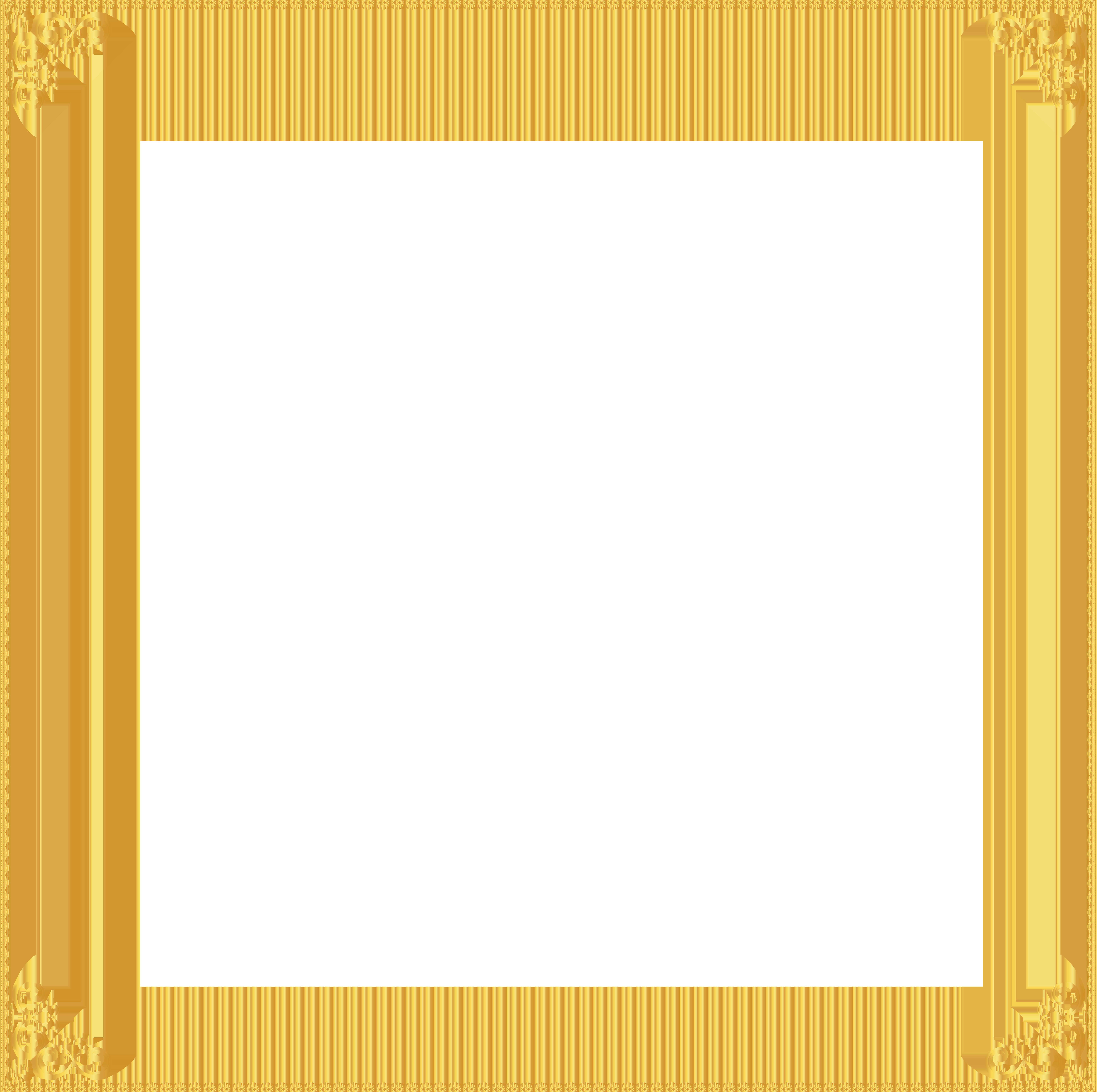 Golden frame transparent clip. English clipart border