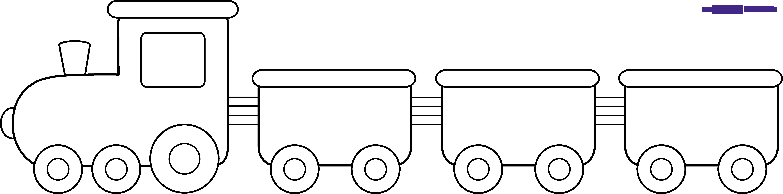 Train line art sweet. Wheel clipart transport