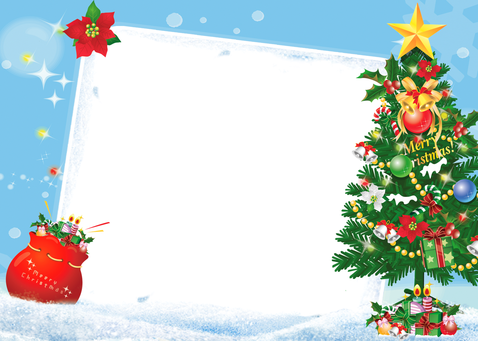 With tree gallery view. Merry christmas frame png