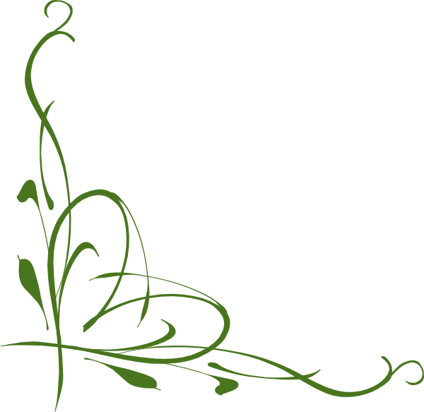 Green corner clip art. Clipart borders vine