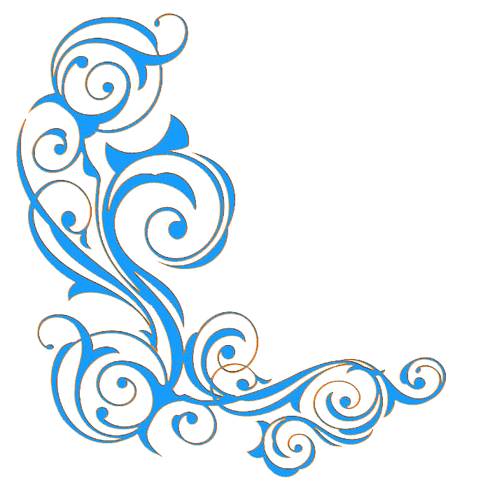 Blue ornament clip art. Clipart borders vine