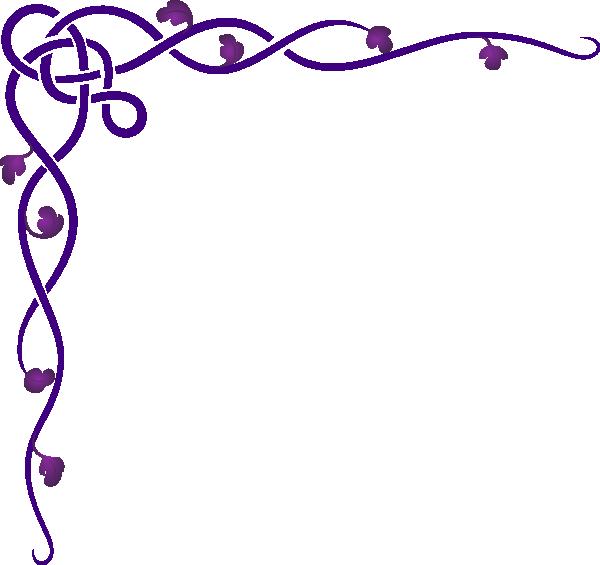 Celtic corner clip art. Clipart borders vine