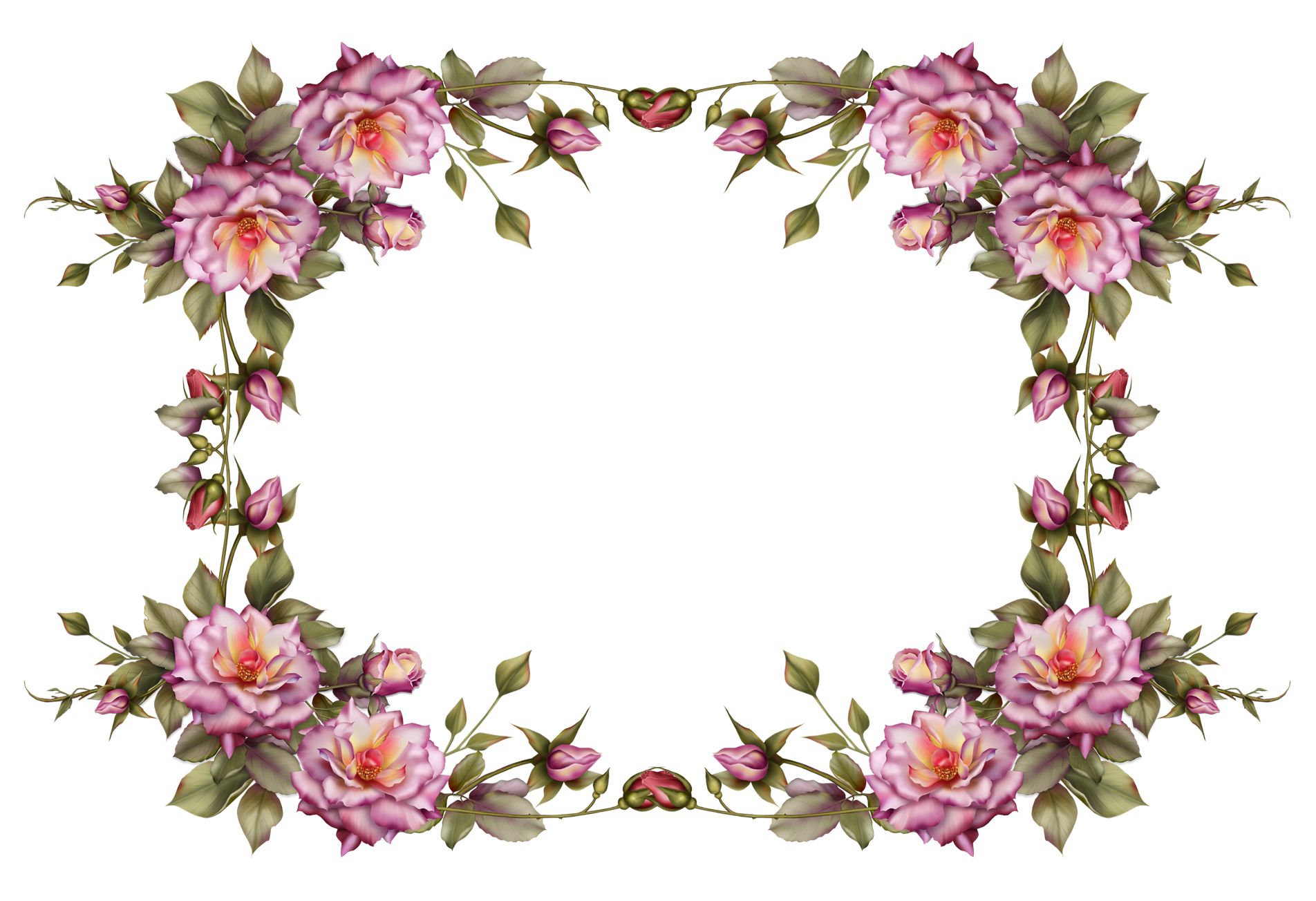 Newspaper clipart border. Flower frame by collect