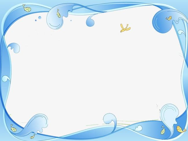 Wave border png . Water clipart borders
