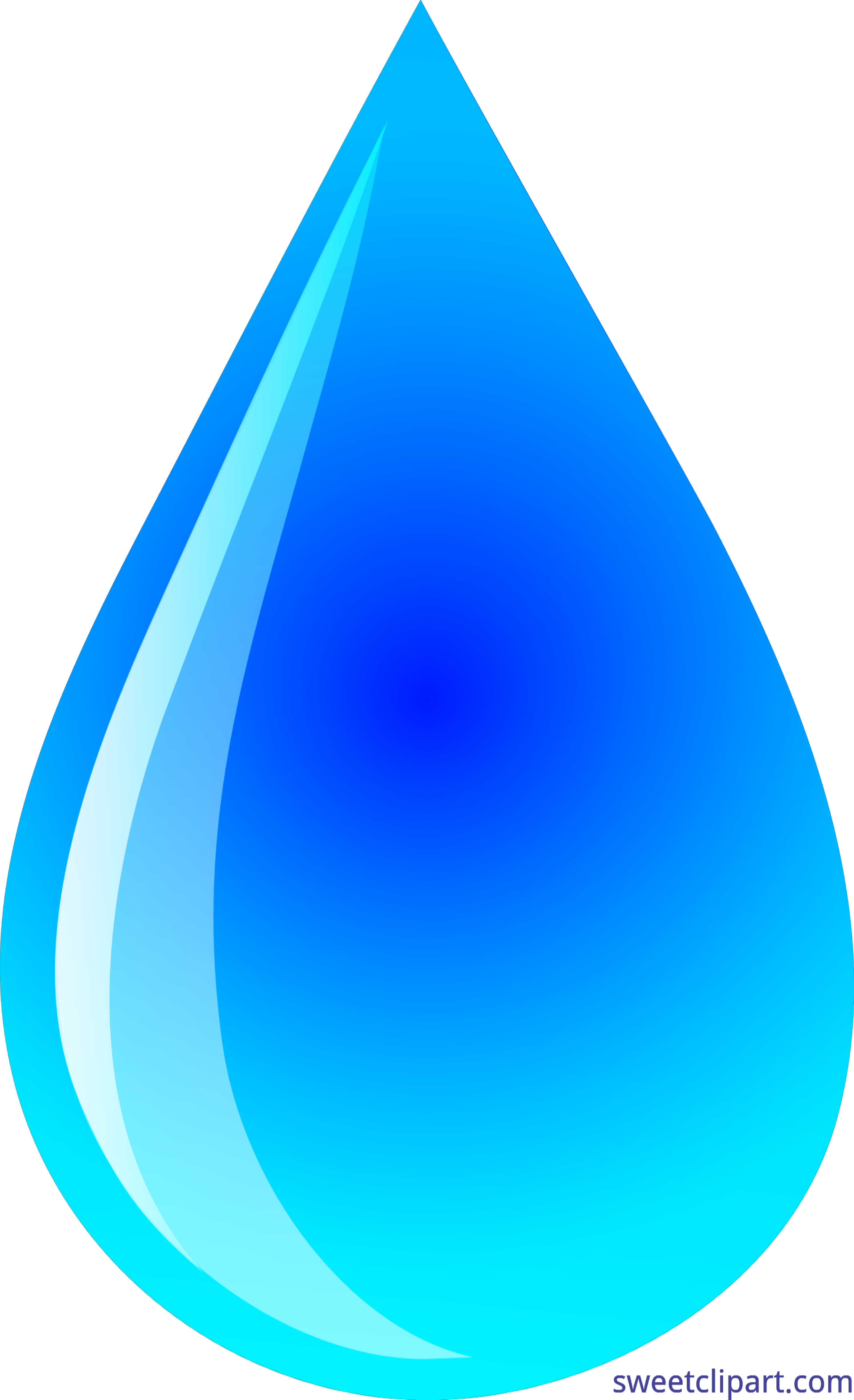 Clipart earth water. Shiny blue droplet clip