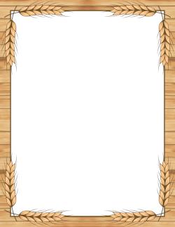 Wheat clipart frame. Border borders frames backgrounds