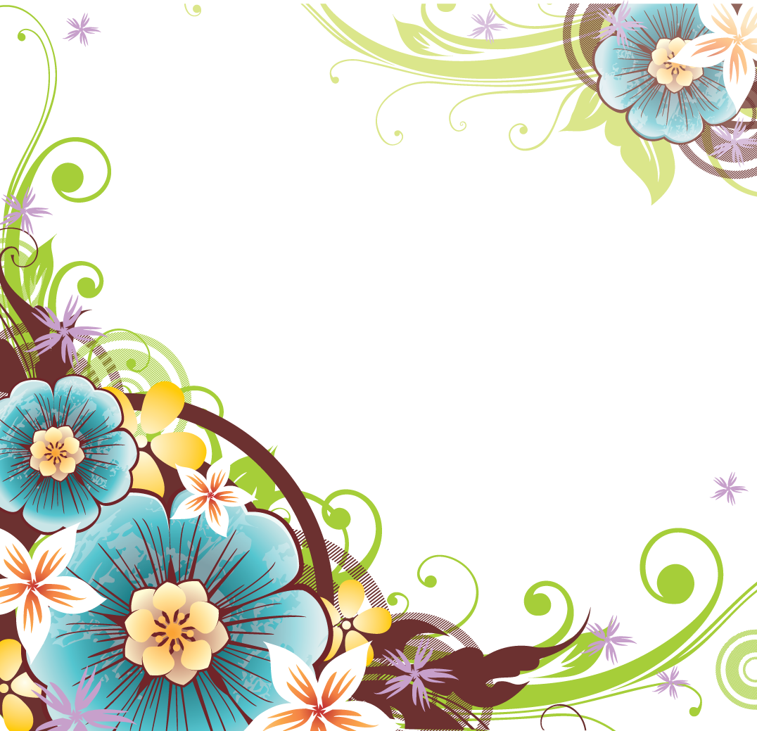 Flower borders png. Vector border patterns pinterest
