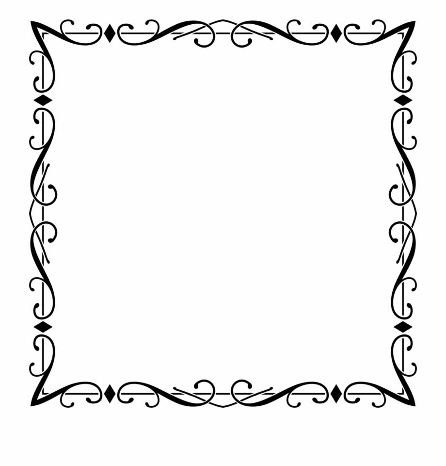 Frame borders and frames. Flourish clipart fancy