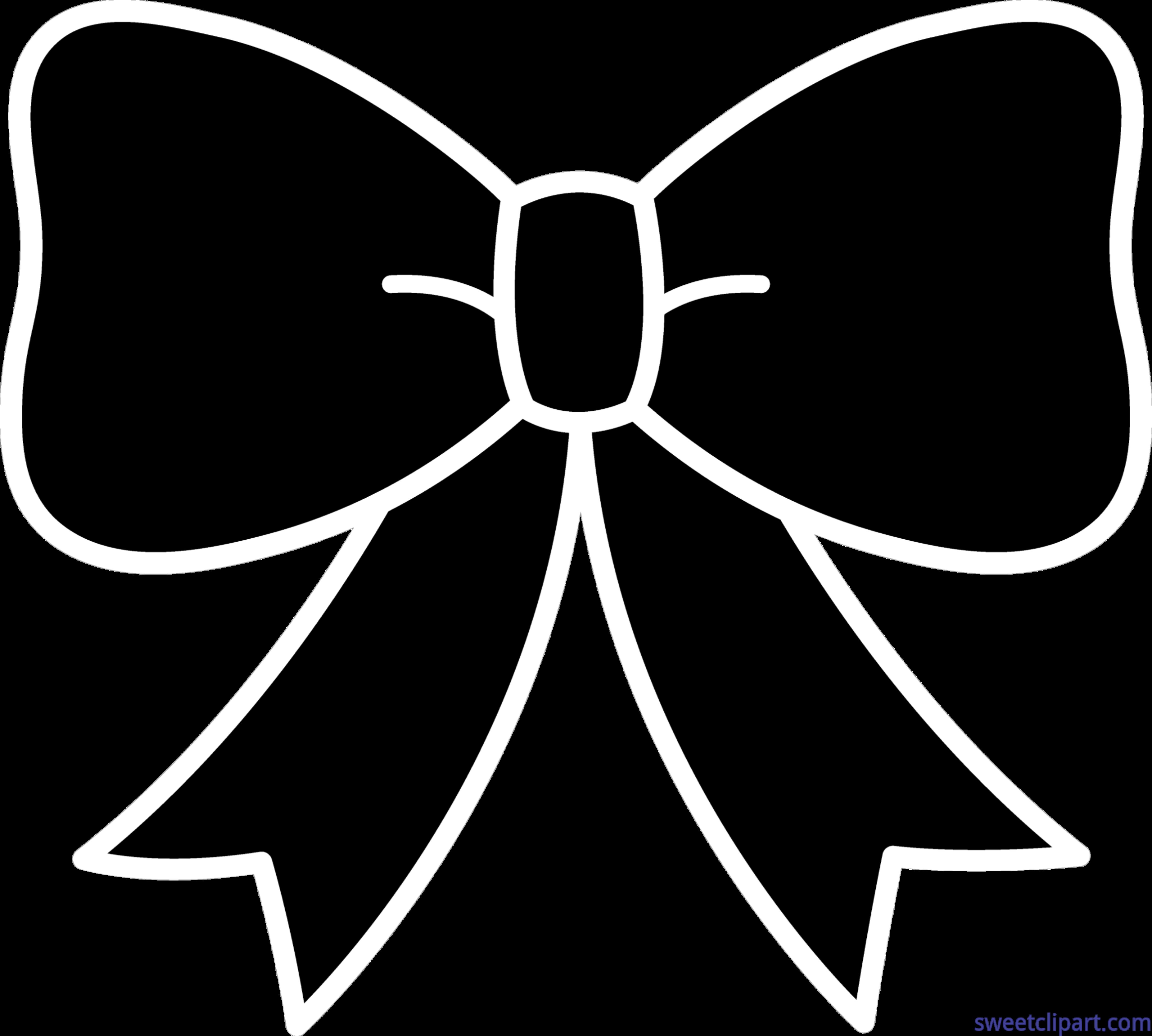 Bow Ribbon Silhouette Clip Art - Sweet Clip Art