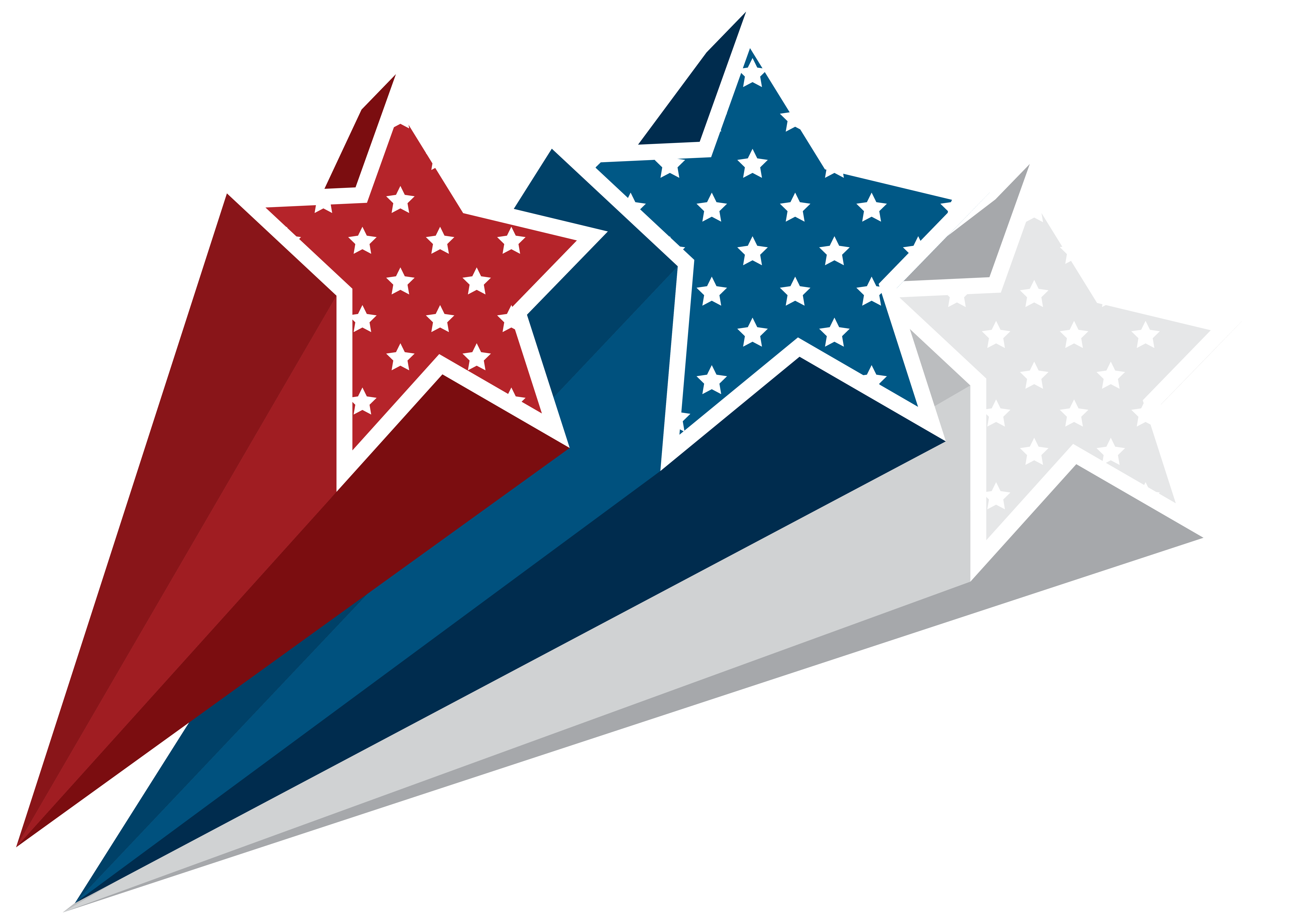 Clipart bow 4th july. Usa stars decoration png