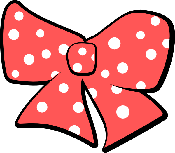 With polka dots clip. Dot clipart black hair bow