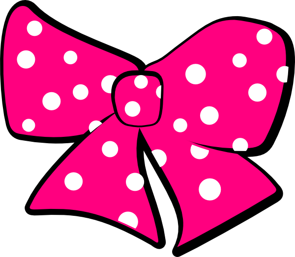 Minnie mouse hair bow. Clipart rose baby
