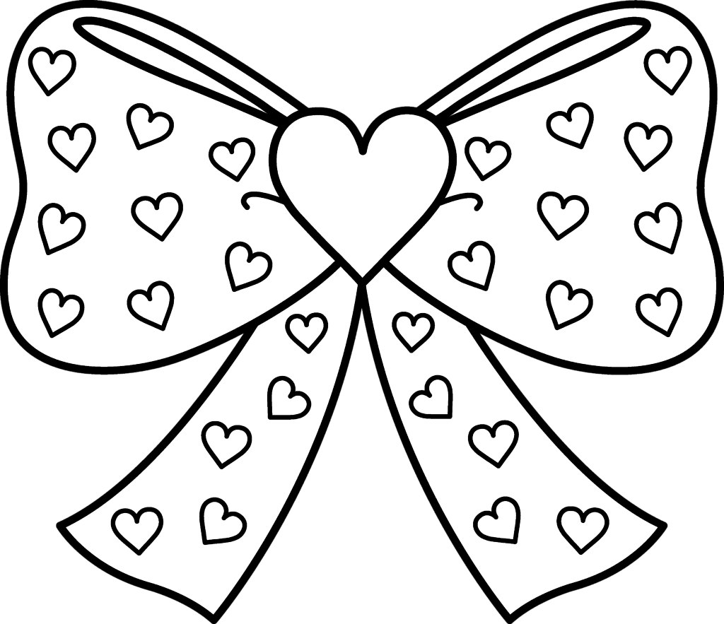 clipart bow black and white