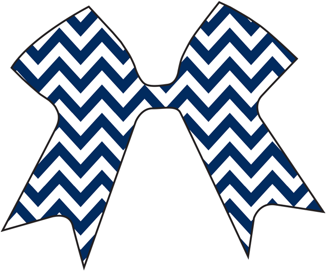 Blue decal cheer cases. Clipart bow bow chevron