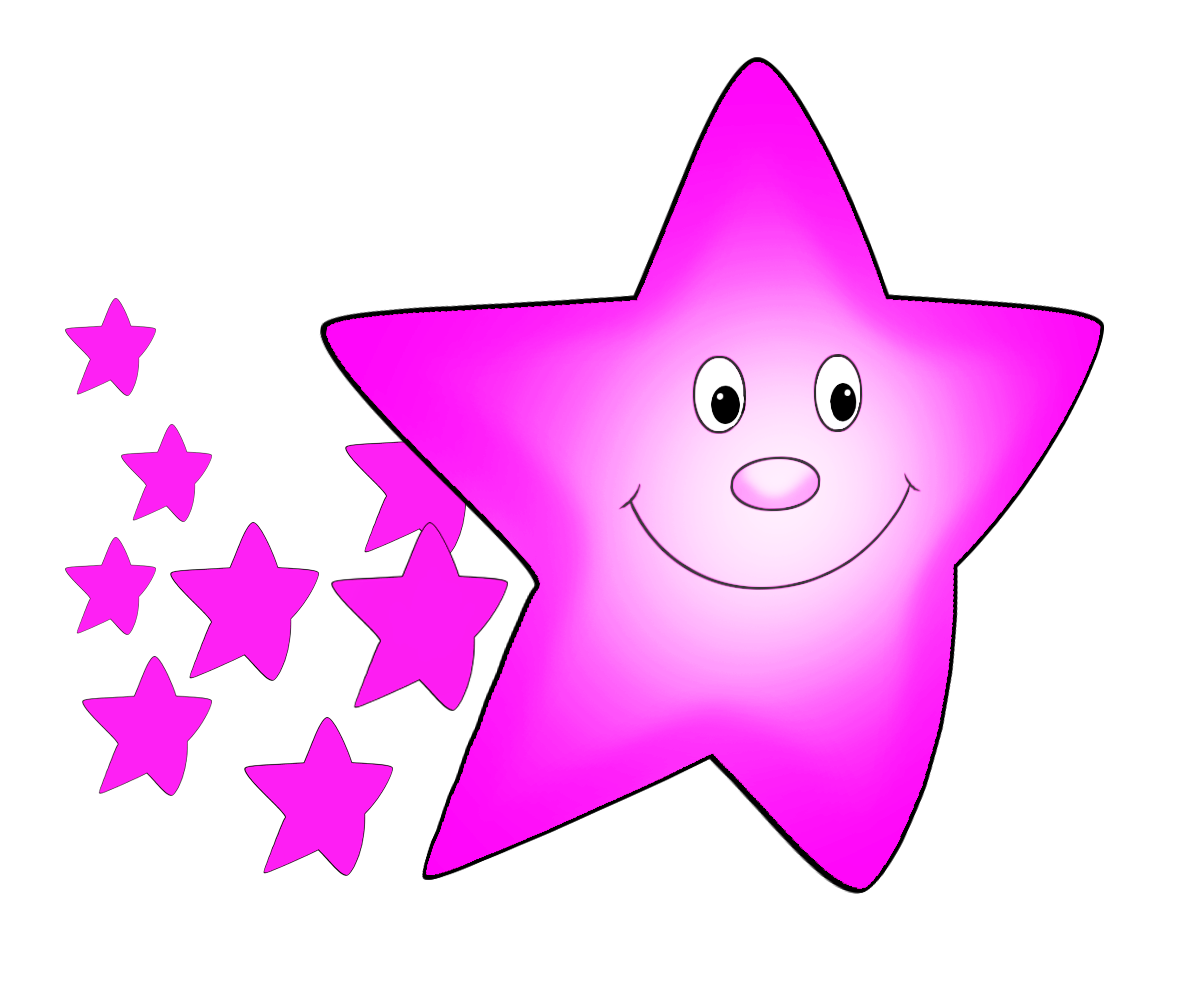 Pink comet pinterest star. Manatee clipart christmas