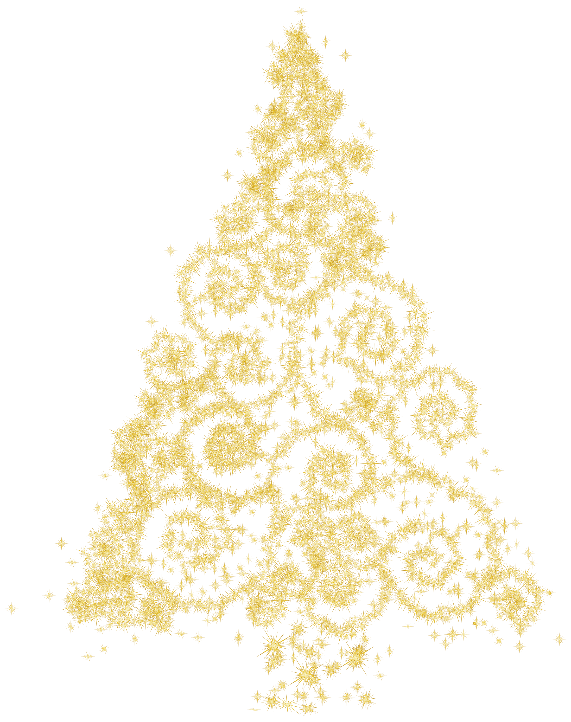 Gold christmas tree png. Clipart trees abstract