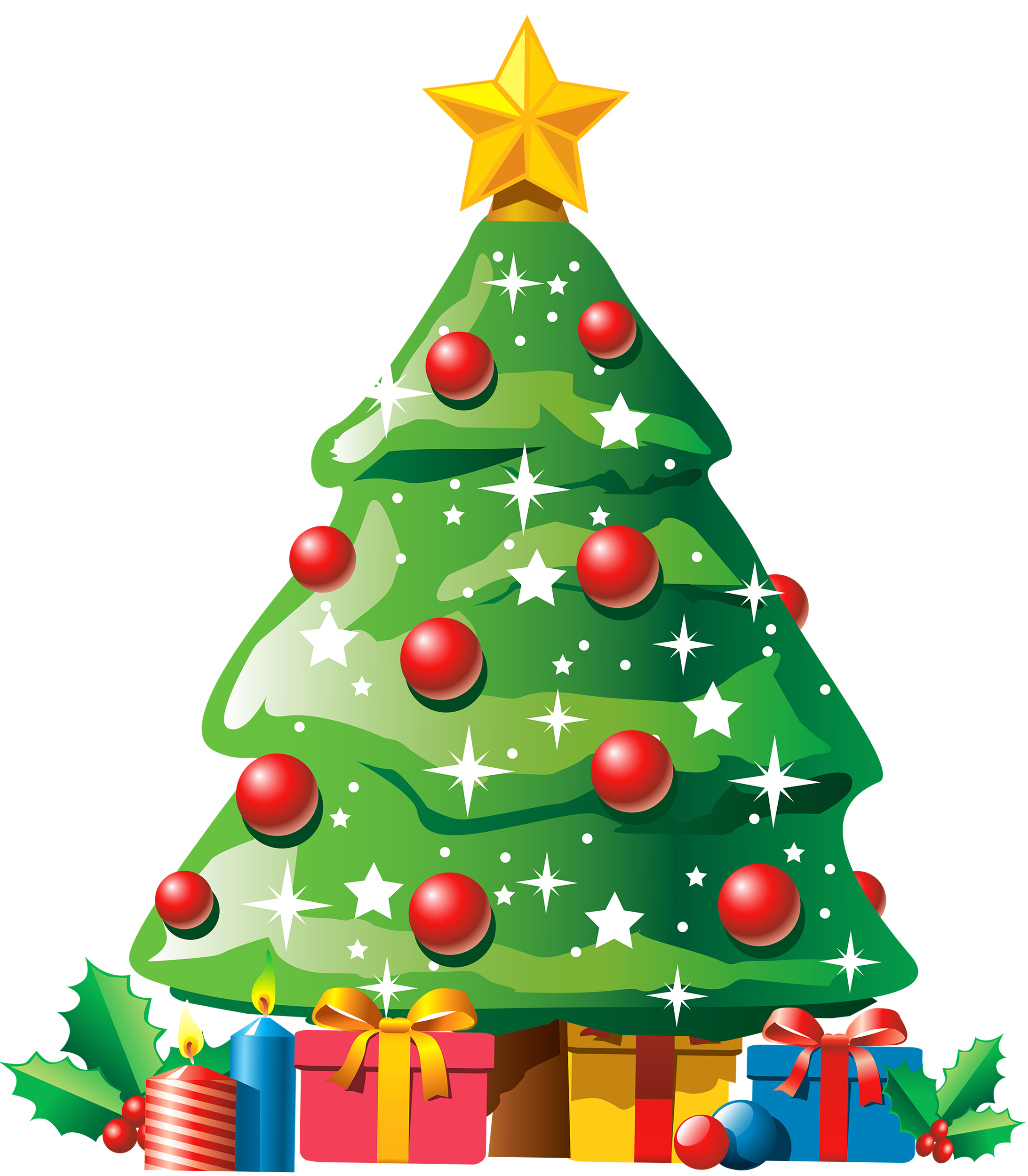 Door clipart xmas. Christmas tree with gifts