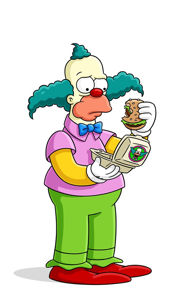 Krusty the clown simpsons. Conflict clipart protagonist