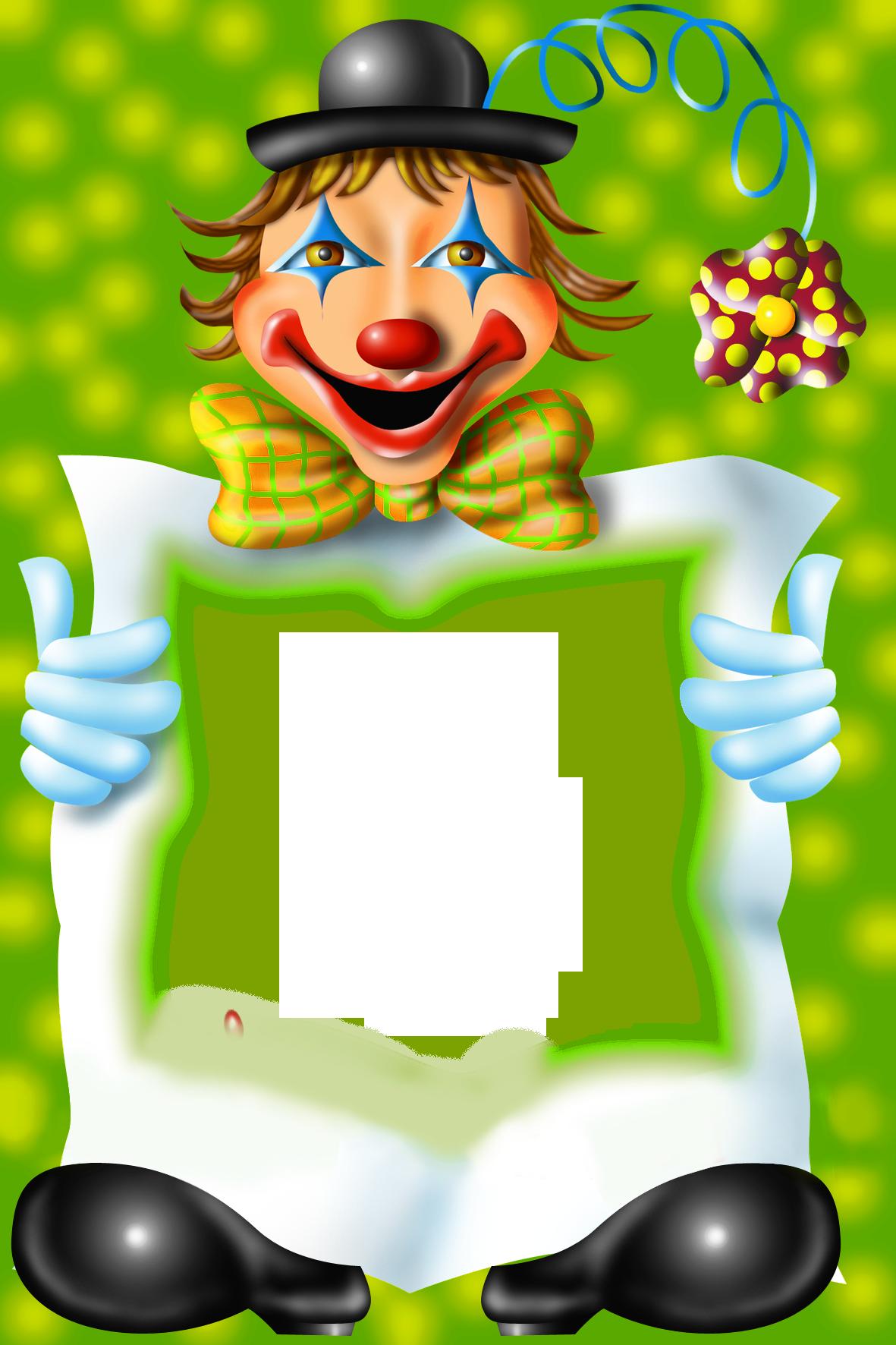 Clown clipart bow. Transparent png photo frame