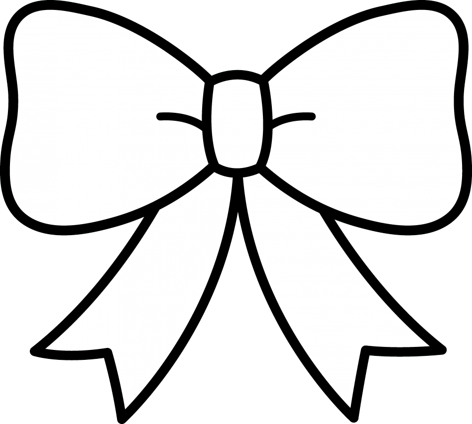 Clipart bow coloring page. Sheet