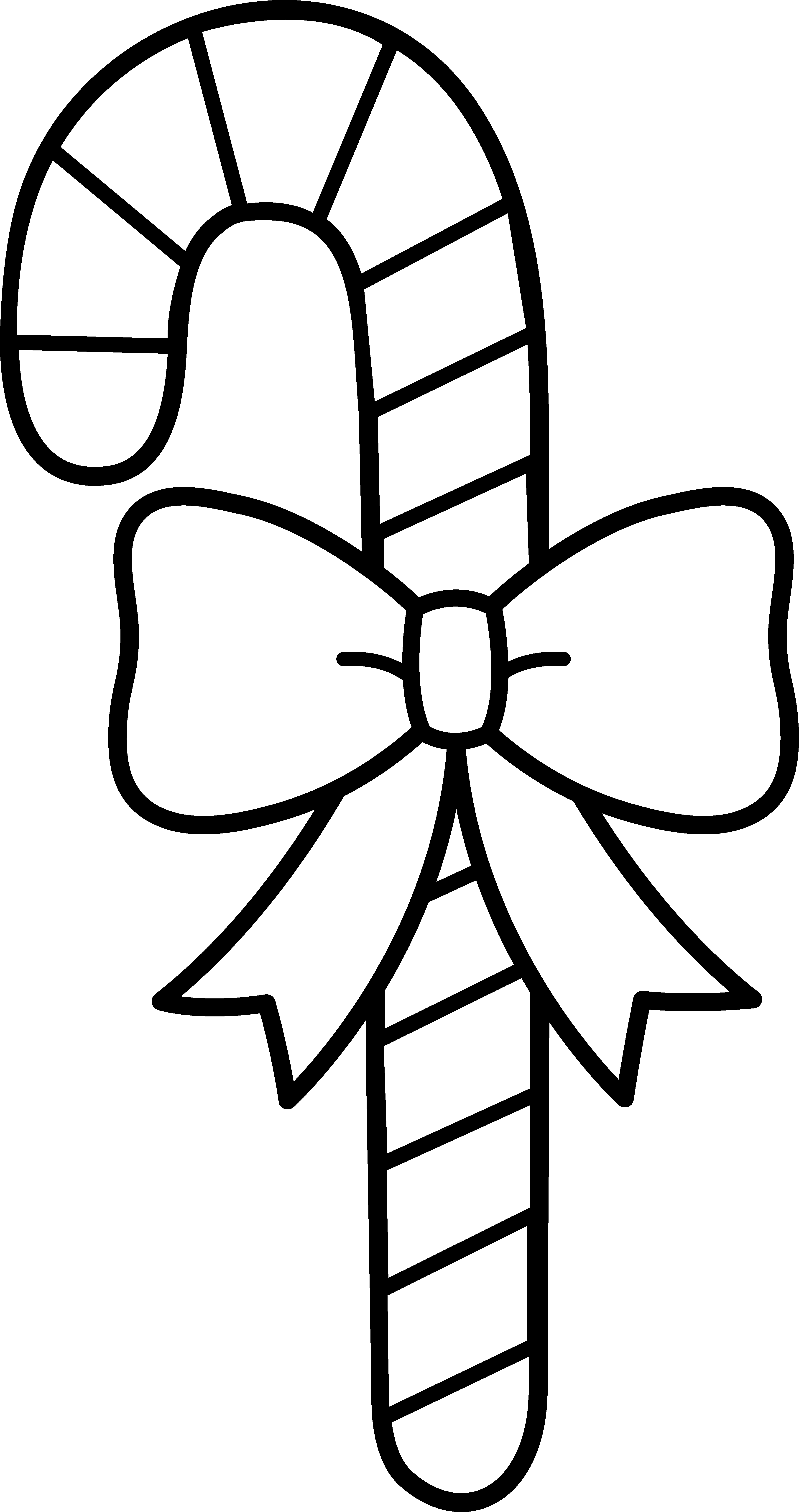 Working clipart black and white. Candy cane with bow