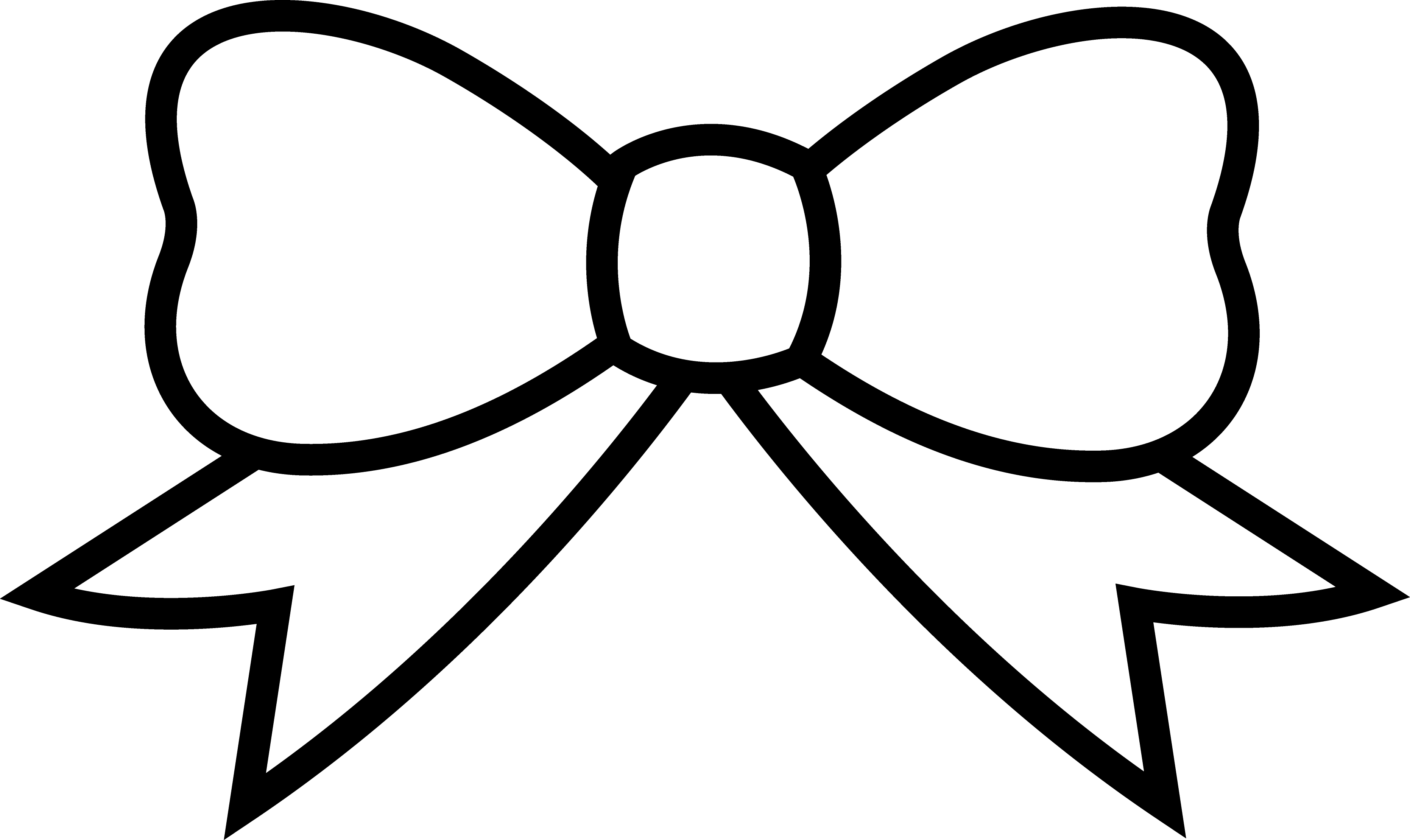 Clipart bow coloring page.  collection of pages