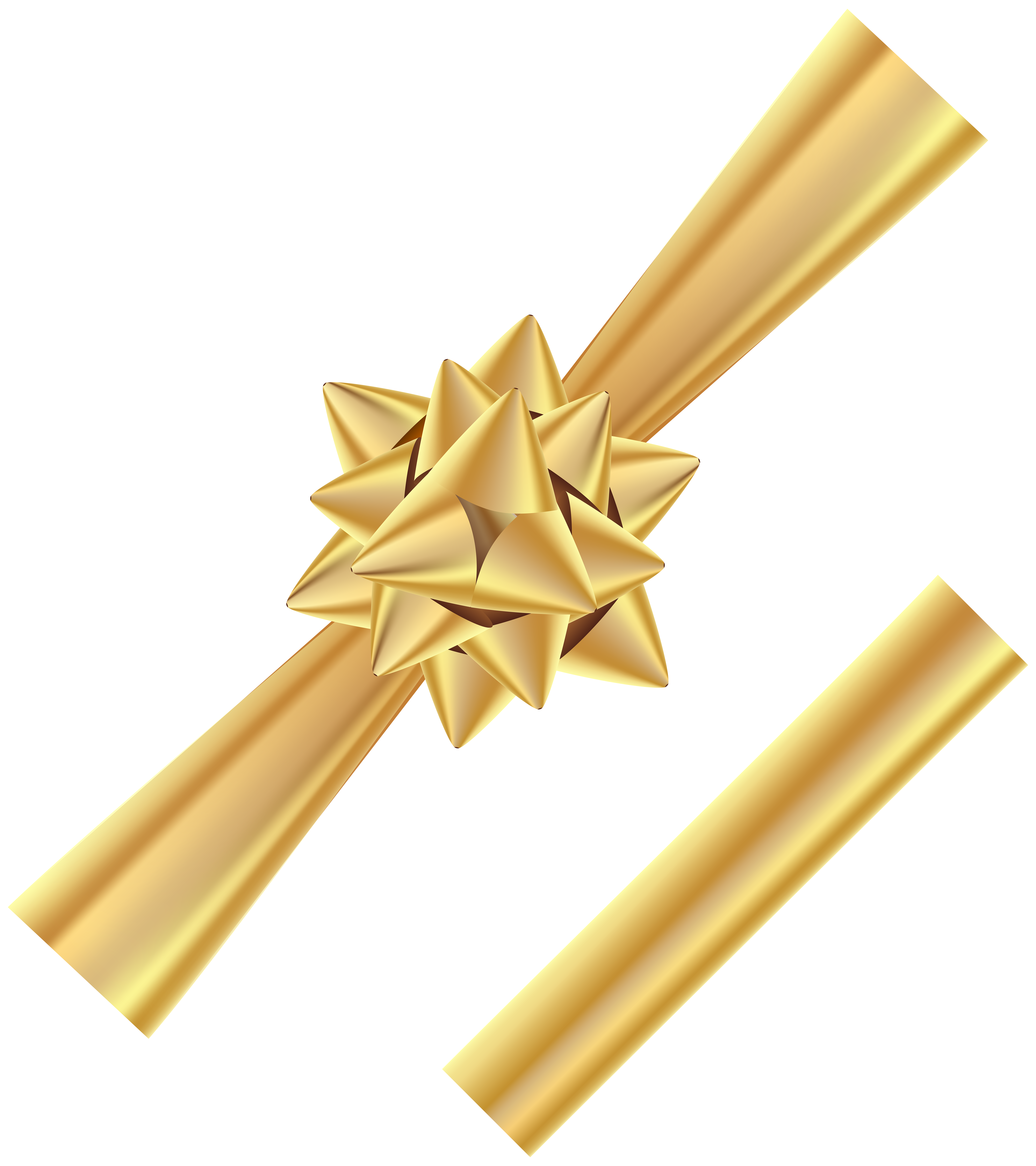 Clipart bow corner. And ribbon gold transparent