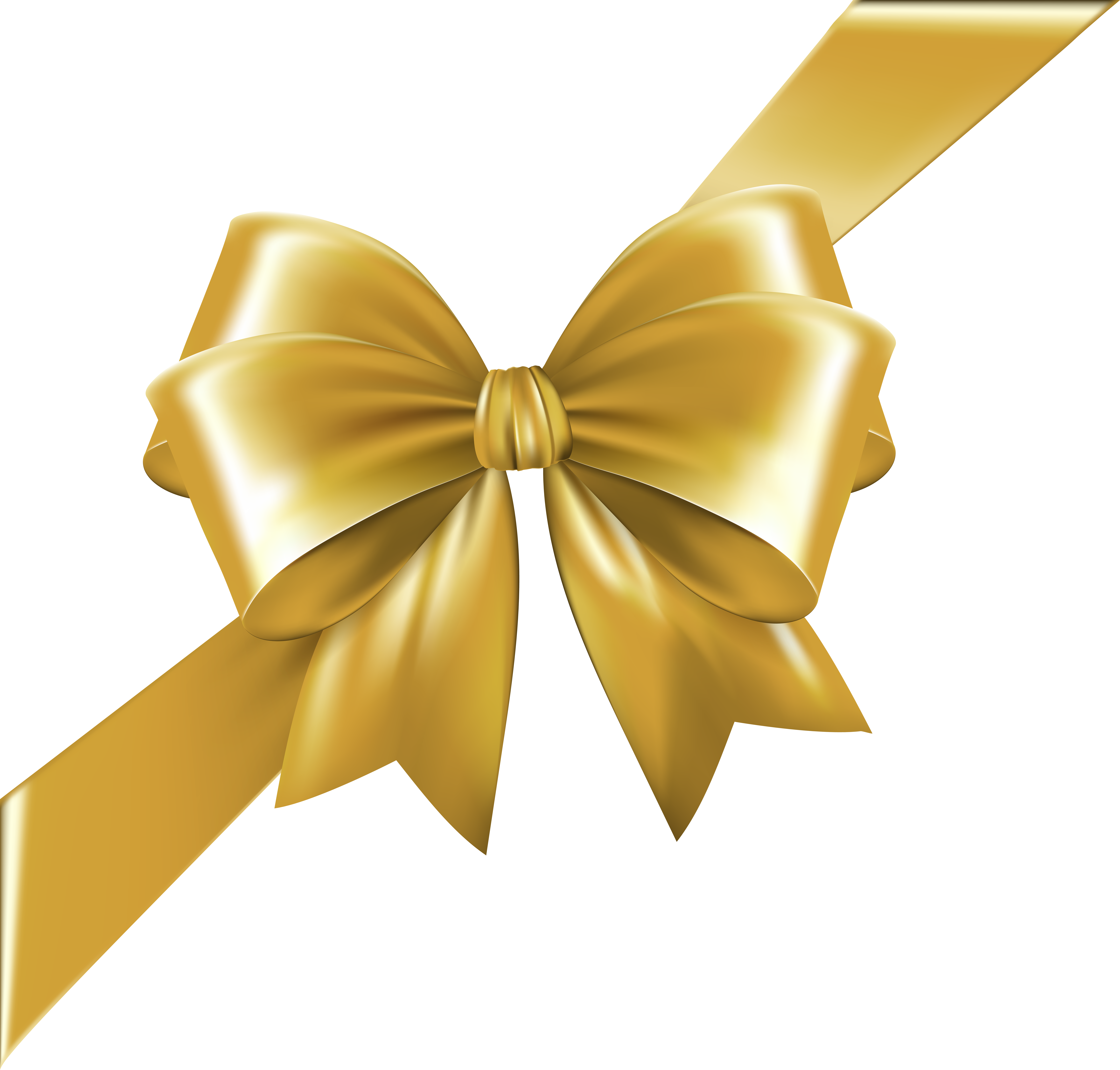 With ribbon gold transparent. Clipart bow corner