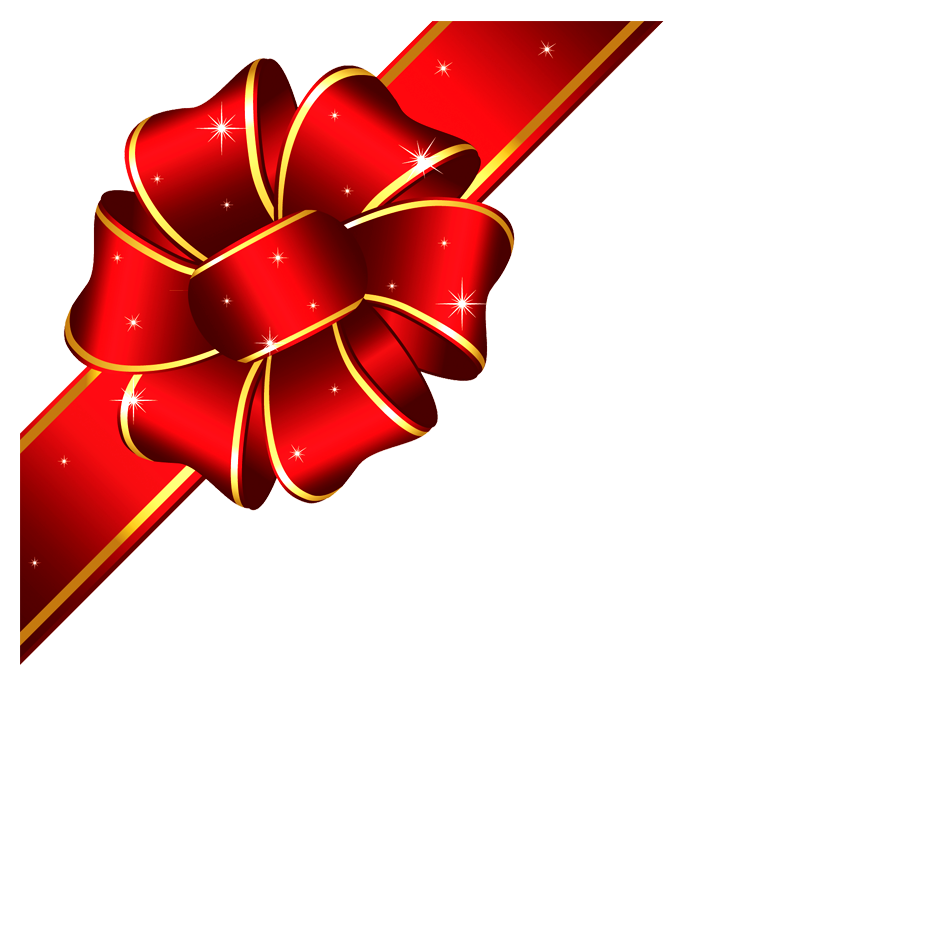 Clipart bow corner. Png and photo red