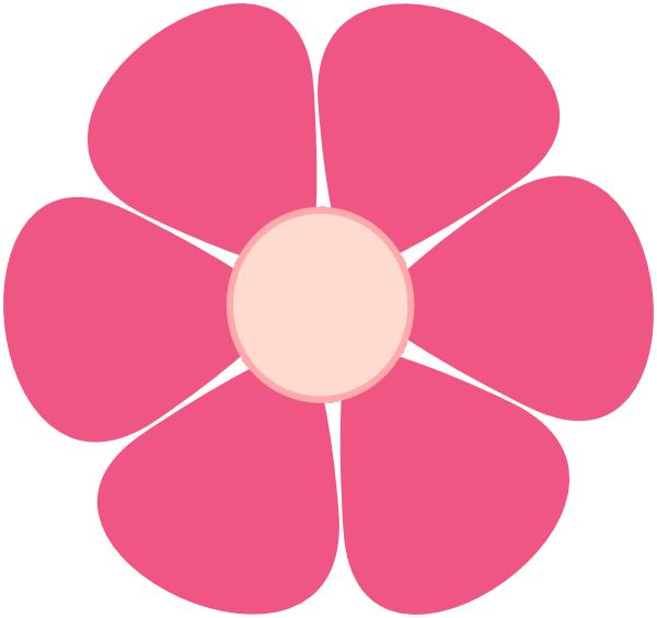 Pink flower clip art. Floral clipart house