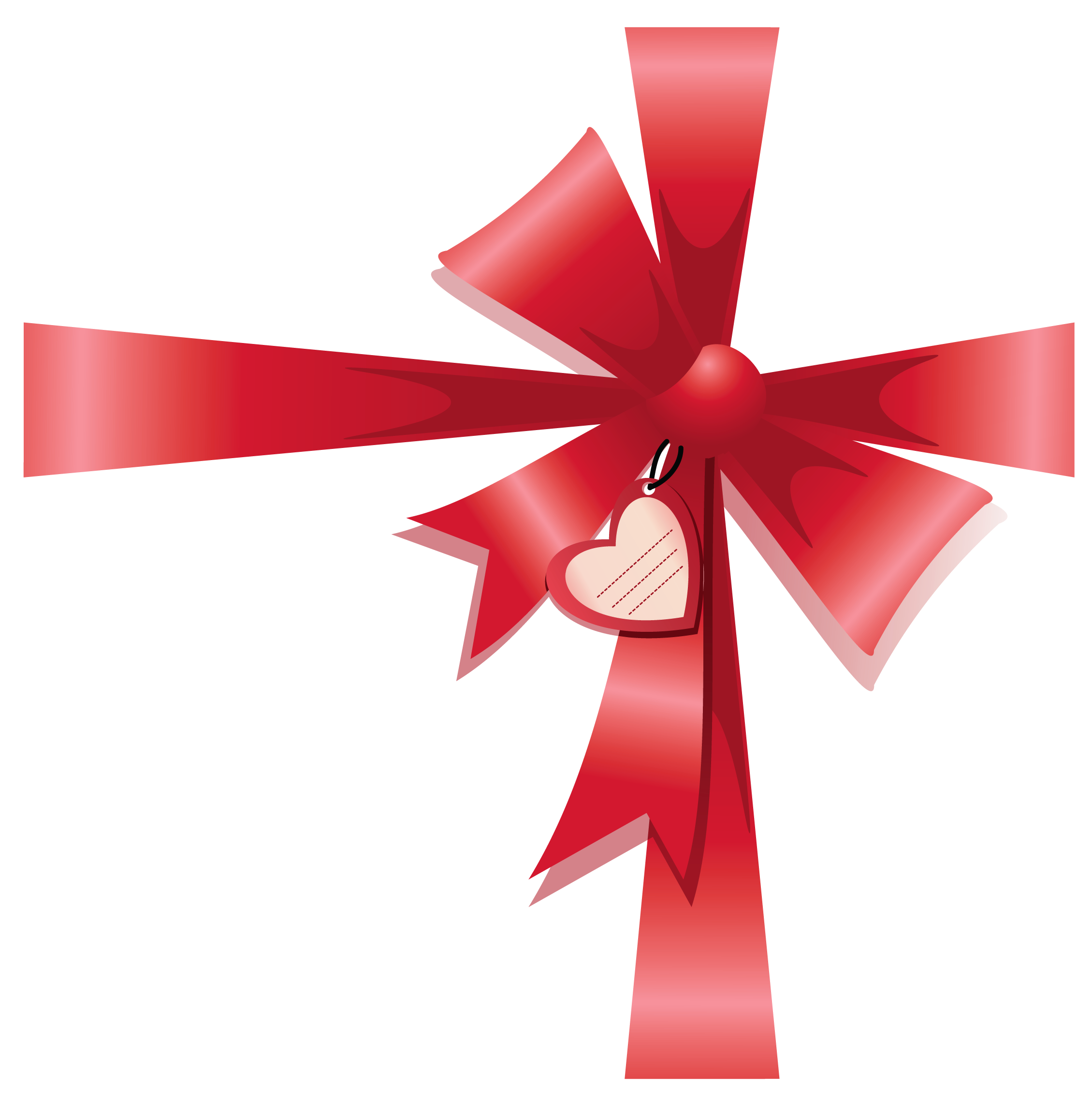 Clipart bow double bow. Valentine decorative with heart