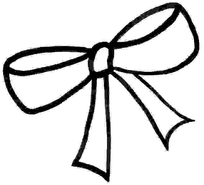 Drawing best crafts . Clipart bow drawn hair
