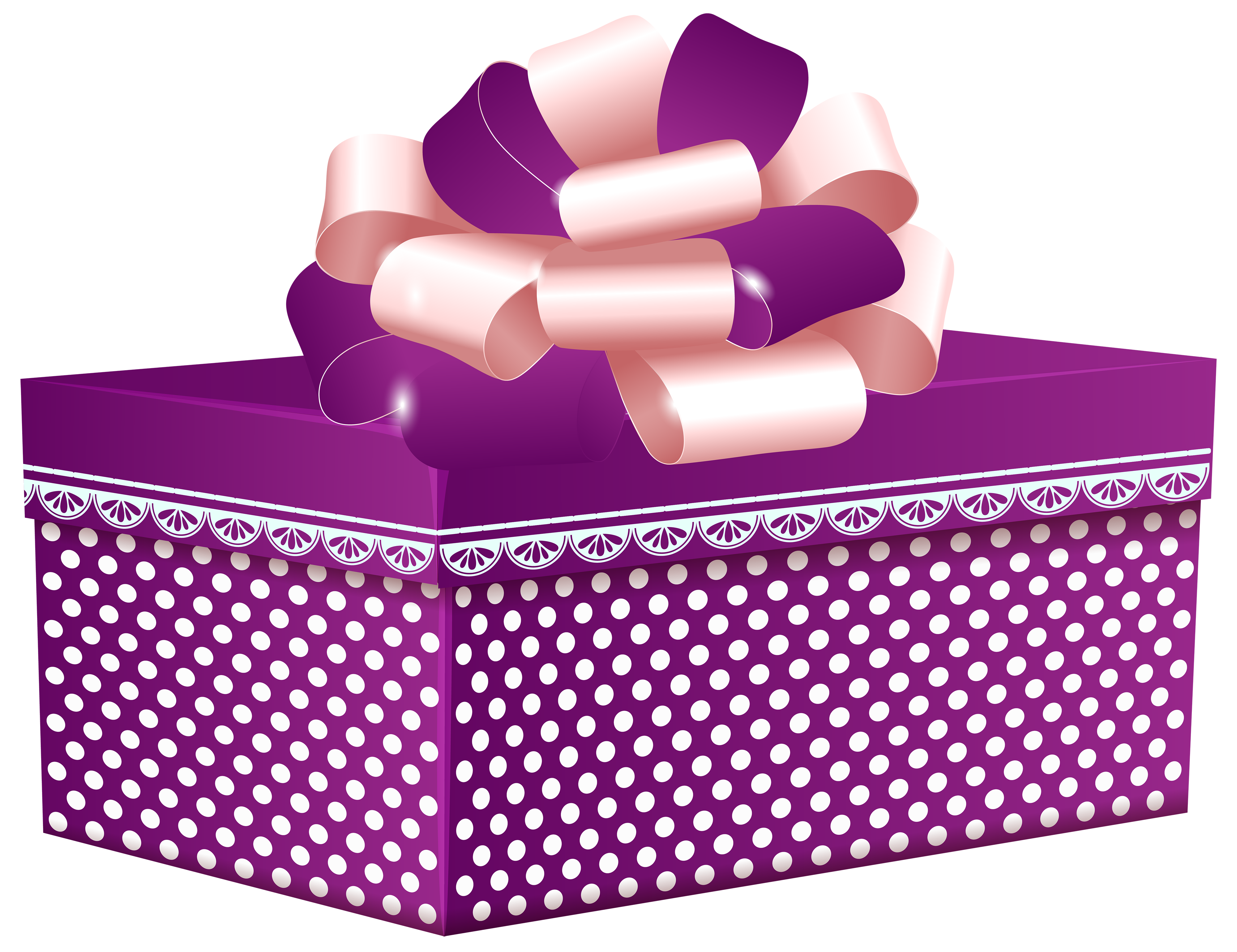 Purple clipart present. Dotted gift box png